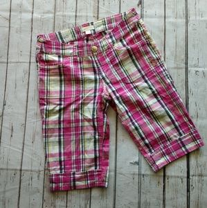 South Pole size 3 pink plaid shorts
